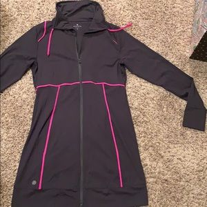 Athleta zip up long jacket